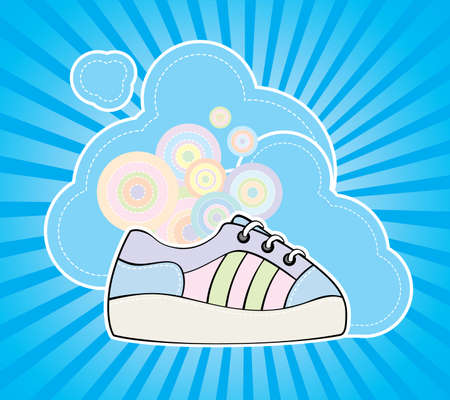 keds: Vector funky illustration