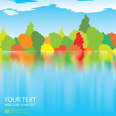 Vector autumn illustration Stock Vector - 5330526