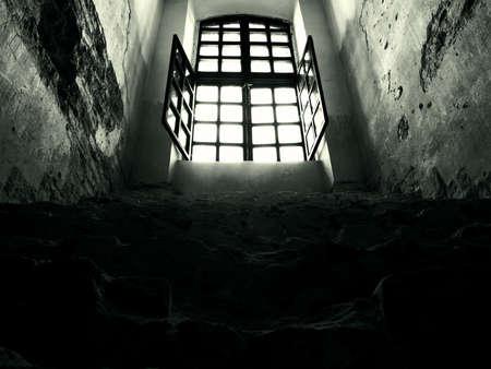 window shade: ventana oscura