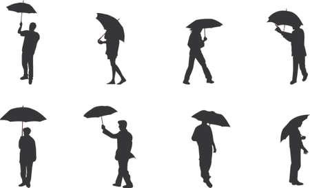 raincoat: umbrella silhouettes