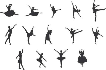 ballet silhouettes Stock Vector - 825400