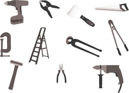hand crank: Herramientas de ilustraciones  Vectores