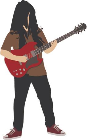 rock guitar player Vector