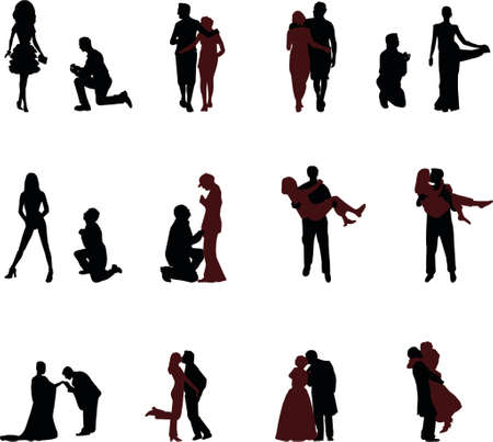 proposal: romantic silhouettes
