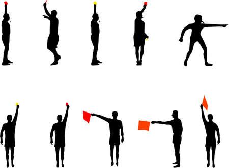 arbitri: arbitro sagome Vettoriali
