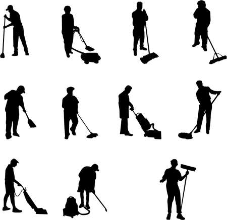 wiping: janitor silhouettes