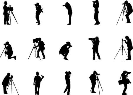 reporters: photographer silhouettes