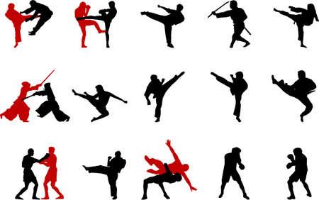 martial arts: martial arts illustrations Illustration