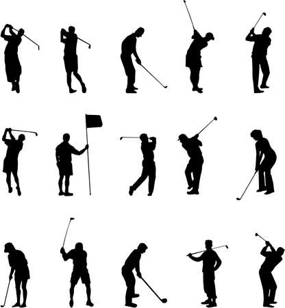 hit: golf silhouettes