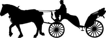 horse carriage: carriage illustration