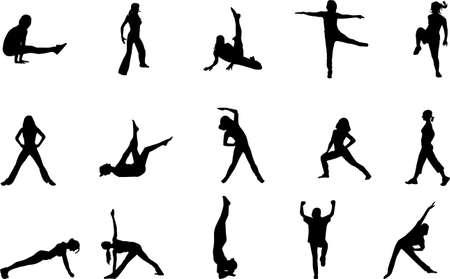 abdomen women: workout silhouettes