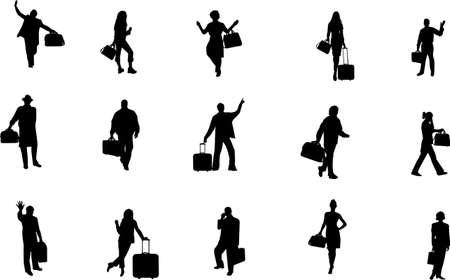 baggage: Reise-Silhouetten  Illustration