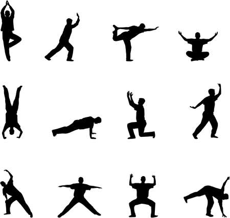 exercise silhouettes Vector