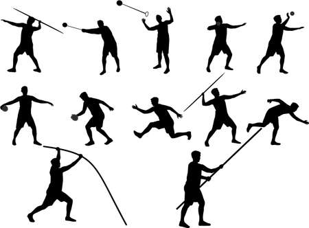 athletics silhouettes Vector