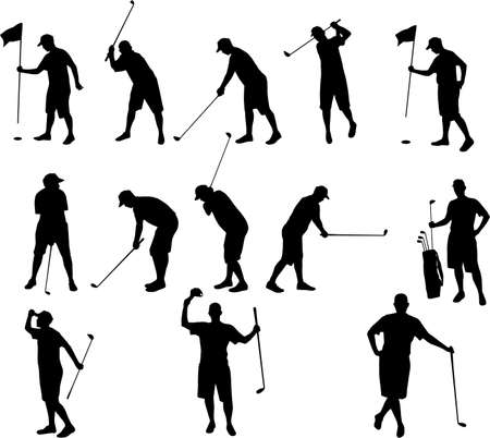 golf silhouettes Stock Vector - 3605767