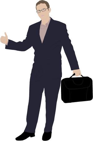 bank manager: joven hombre de negocios ilustraci�n