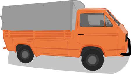 shipper: truck illustration Illustration