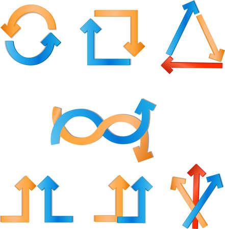 straight path: arrows vector illustration