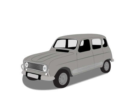 oldtimer: oldtimer car vector illustration