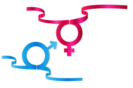 sexo femenino: símbolo de sexo masculino y femenino ilustración vectorial