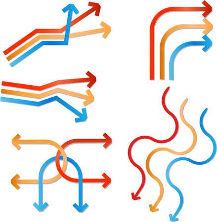 straight path: vector arrows Illustration