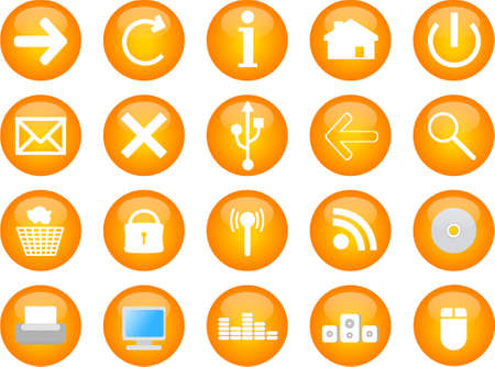computer and web vector icons Vector