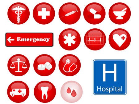 medicine icons Illustration
