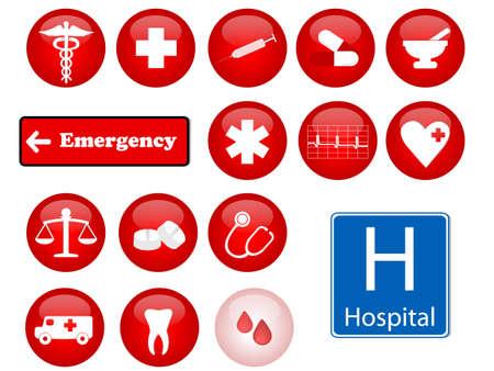 medicine icons Illustration