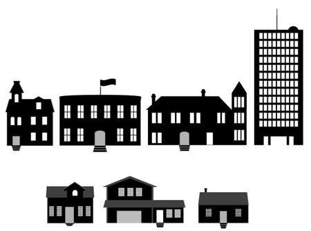 renting: houses illustration