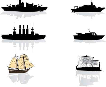 ships illustrations Vector
