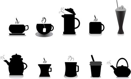 tea and coffee illustrations Vector