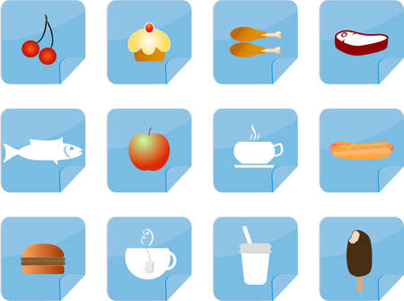 food and coffee icons Vector