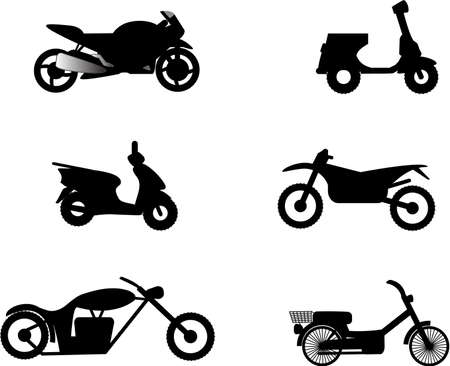 moped: motorcycle illustrations Illustration