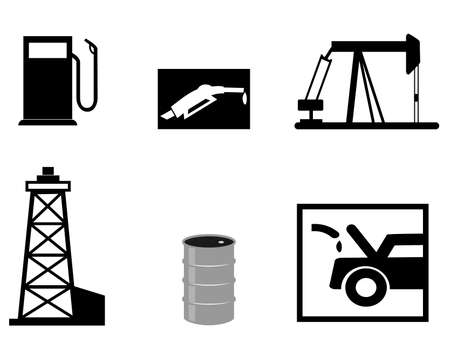 fossil fuel: petrol vector icons Illustration