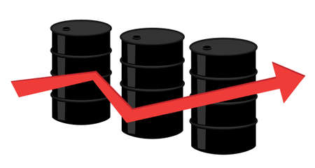 oil barrel illustration Vector