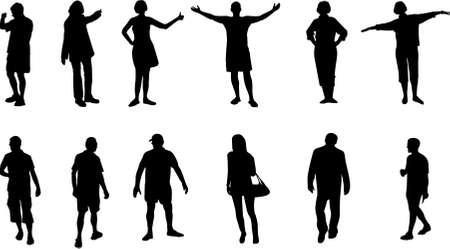 salutation: people silhouettes Illustration