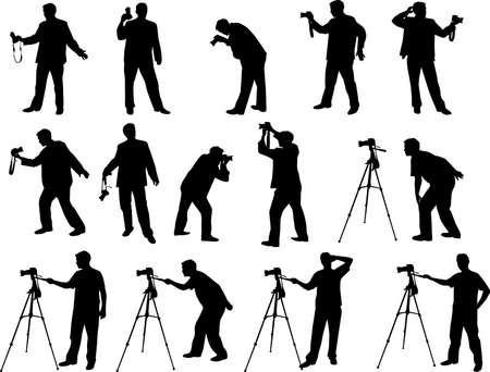tripod: photographers silhouettes