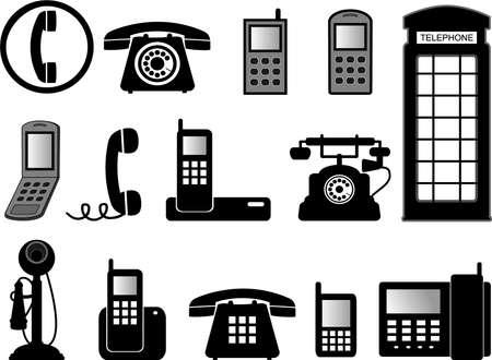 cabina telefono: ilustraciones de tel�fono Vectores