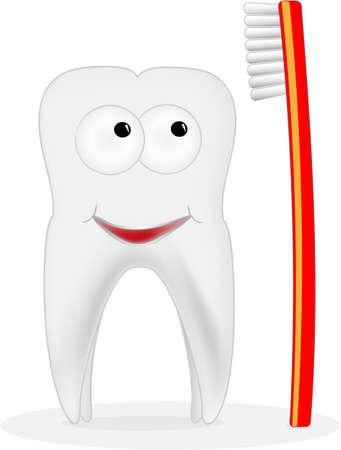 dentista: sonriendo illustation diente Vectores