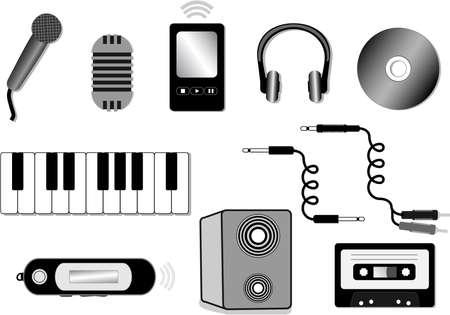 audio equipment illustration Vector