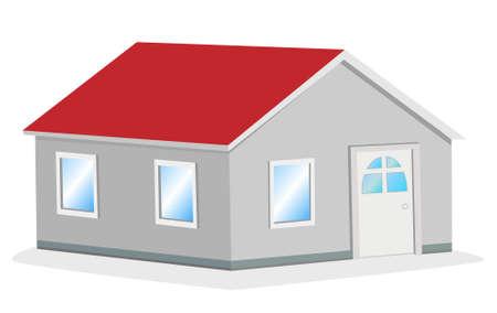 row of houses: casa sencilla ilustraci�n vectorial
