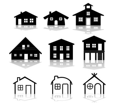 simple house illustrations Vector