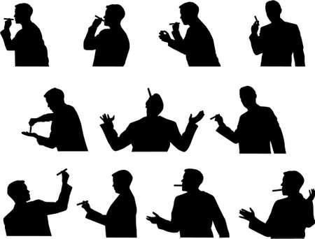 smoker silhouettes Stock Vector - 5233445