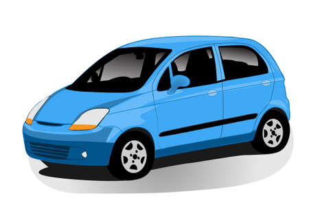 modern automobile illustration