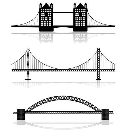 verjas: ilustraciones de puente Vectores