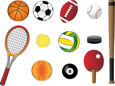 sports equipment vector illustration Vector