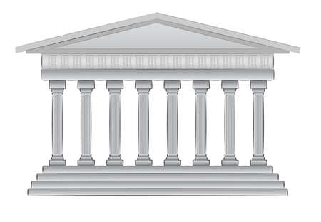 roman pillar: greek dome illustration