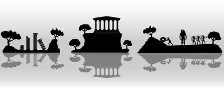antica grecia: Illustrazione di Grecia antica  Vettoriali