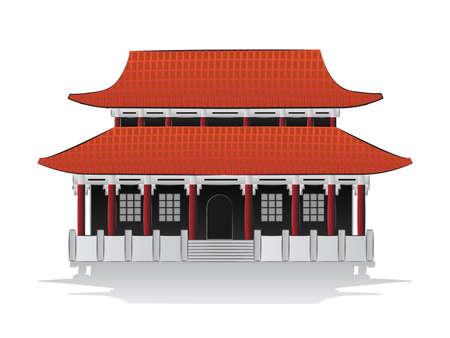 chinese wall: Illustrazione di casa cinese