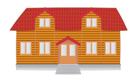 suburban house: simple house illustration